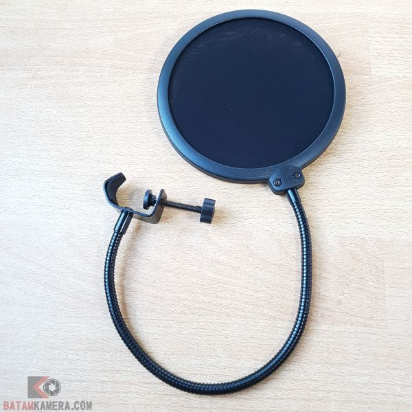 Pop Filter Mikrofon Dual Layer Windscreen