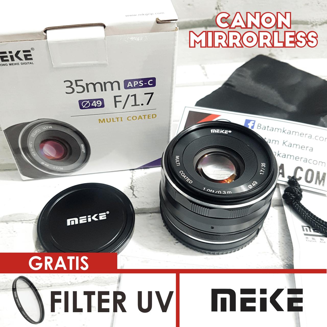 Lensa Meike 35mm F1.7 For Canon Mirrorless EOS M