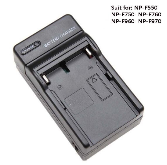 Charger Sony for Np-f970 Np-770 Np-f550 Np-f570