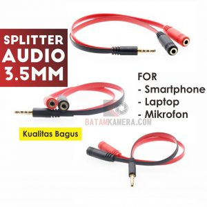 Kabel Splitter Audio 3.5mm For Smartphone Terbaru Termurah