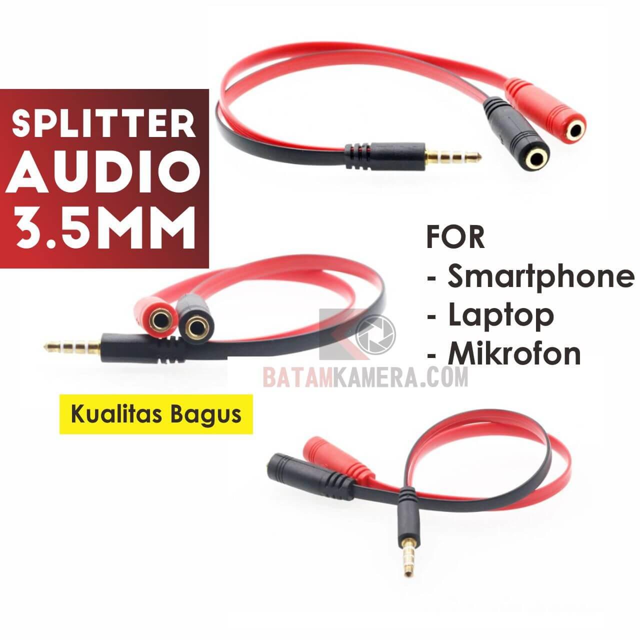 Kabel Splitter Audio 3.5mm For Smartphone Terbaru Termurah