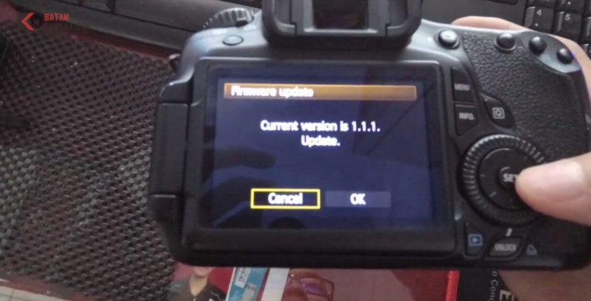 Tutorial Update Firmware Canon DSLR EOS 60D Terbaru Dengan Mudah