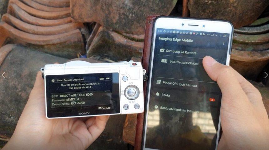 Menyalin Foto/Video Melalui Wifi Sony A5000 ke Smartphone