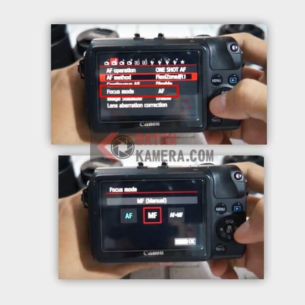 Cara Mengatur Manual Fokus Mirrorless Canon