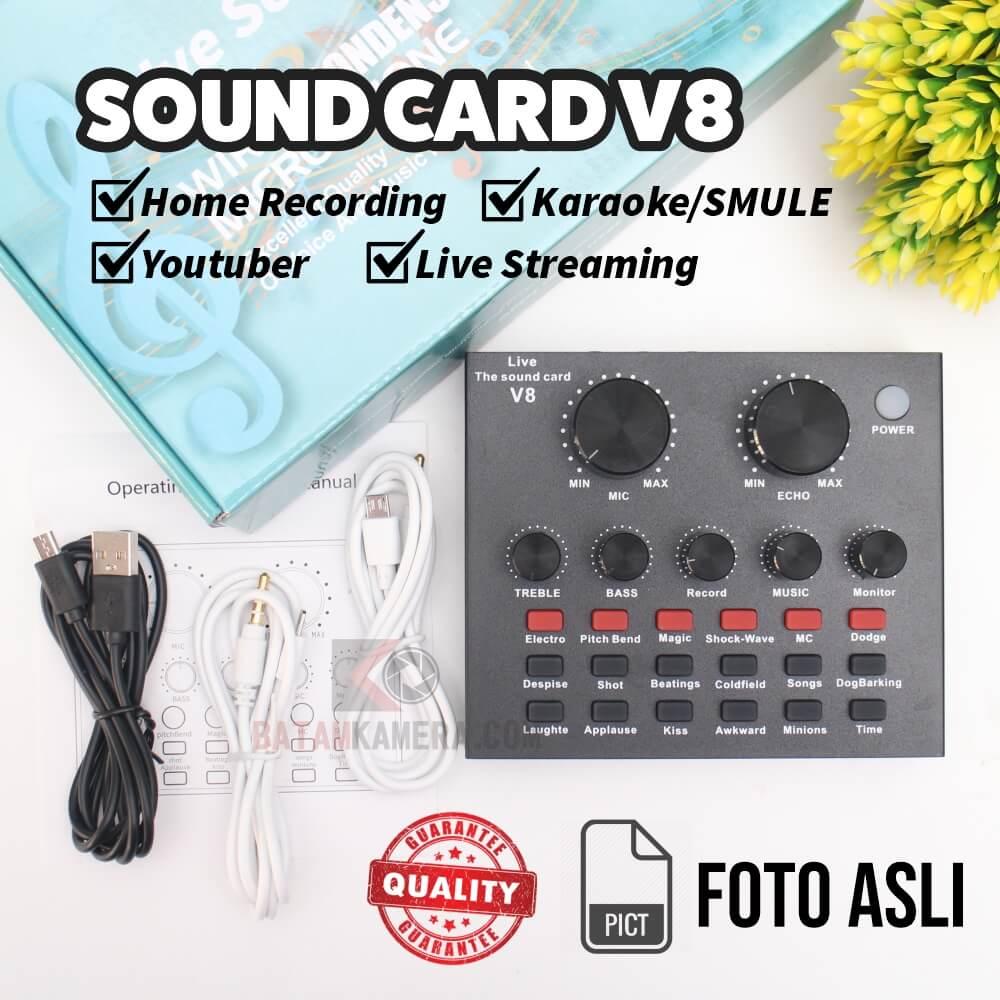 Jual Sound Card V8 Batam Home Recording
