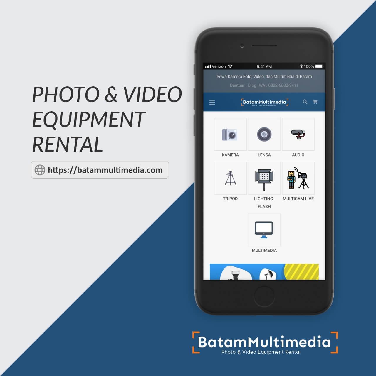 Rental Sewa Kamera Multicam Lensa di Batam