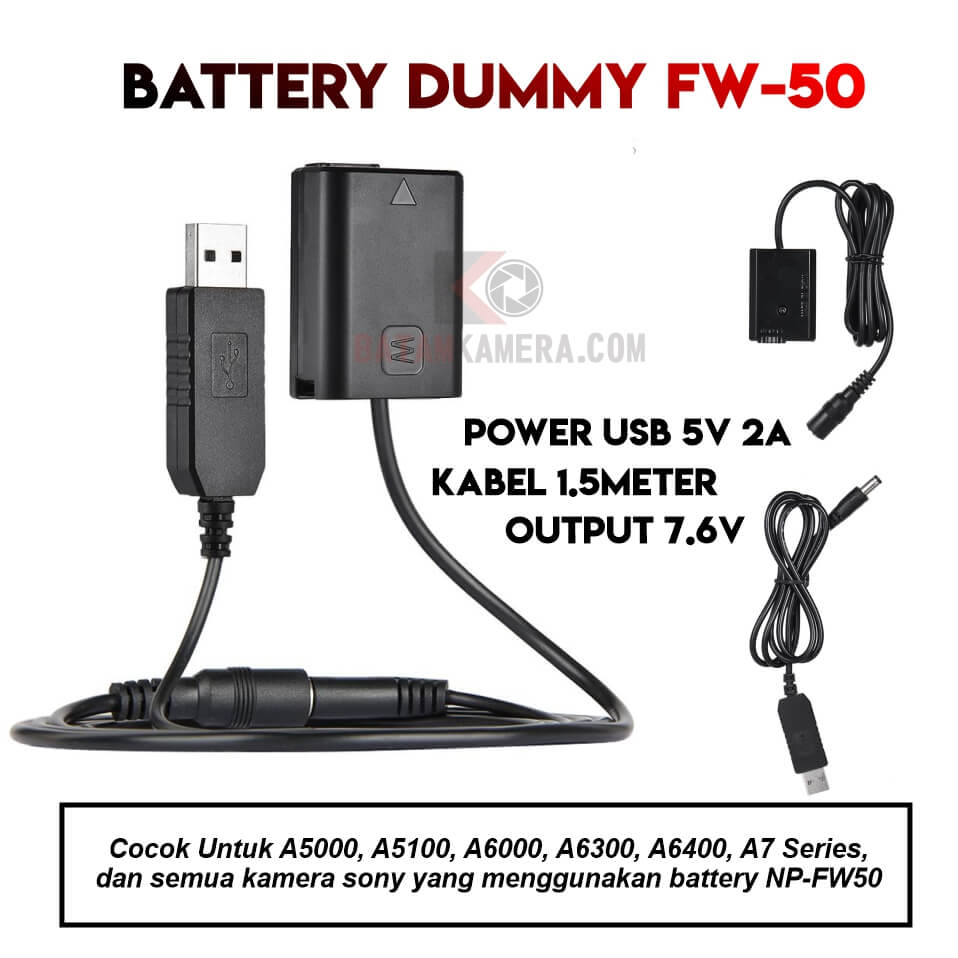 Jual Battery Dummy Sony FW50