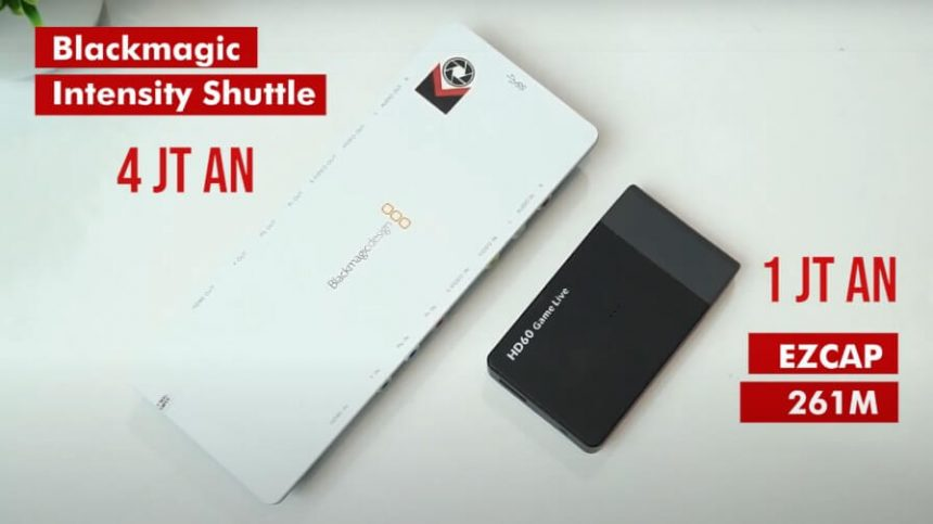 Perbedaan Hasil Capture Card Blackmagic Intensity Shuttle VS EZCAP 261M