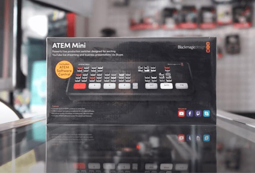 Unboxing Blackmagic Atem Mini Indonesia Switcher Capture Card 4 Input Hdmi Batamkamera Com